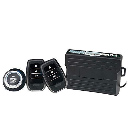 12 V Auto Motor Start Alarmsysteem met Keyless Entry Remote Universeel voertuig Keyless Alarm PKE waarschuwen Drukknop start Auto antidiefstal systeem