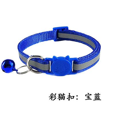 Ltong reflecterende verstelbare halsbanden Kleurrijk nylon Breakaway-veiligheid Hondenhalsband Bells voor katten Kleine honden Pups Kittens, kleur 3, nek 19-32 cm 1,0 cm