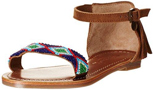 Pepe Jeans Maya Fringes -Sandalias Niñas, color Marrón (877 Nut Brown), talla 32