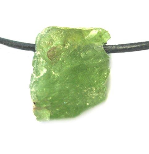 Amaryllis Rohstein-Anhänger Peridot 1-1,5 cm gebohrt