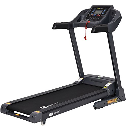 Goplus 2.5HP Folding Treadmill Electric Support Motorized Power Running Fitness Jogging Incline Machine W/APP Control & Shock-Absorption System (New Model)