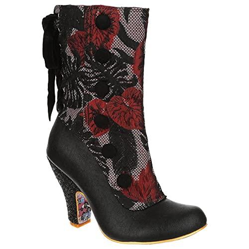 Irregular Choice Women's Reinette Ankle Boot, Bordo, 10.5