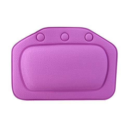 SXFYHXY Spa Oreiller de Bain Maison Oreiller de Baignoire Coussin de Baignoire en PVC Cou Appuie-tête Souple Ventouse Baignoire Oreiller Accessoires,Violet,31x21cm