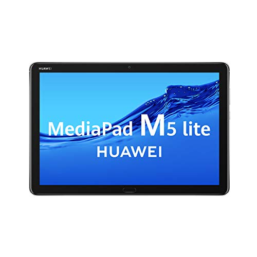 HUAWEI MediaPad M5 Lite 10 - Tablet de 10.1' Full HD (LTE, RAM de 3 GB, ROM de 32 GB, Android 8.0, EMUI 8.0) Color Gris