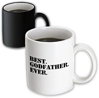 3drose Best Godfather Ever, For God Fathers, God Dads, Black Text, Magic Transforming Mug, 11-Oz
