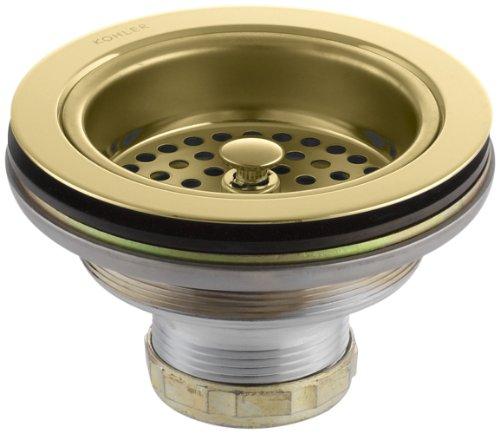 KOHLER K-8799-PB Duostrainer Sink Strainer, 1.5, Vibrant Polished Brass