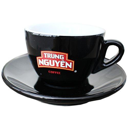 Trung Nguyen kleine Kaffeetasse mit Untertasse für Vietnam Kaffee schwarz