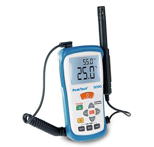 IR Thermo-Hygrometer ~ -50 +500°C ~ 5 95% RH ~ mit Lufttemperatur