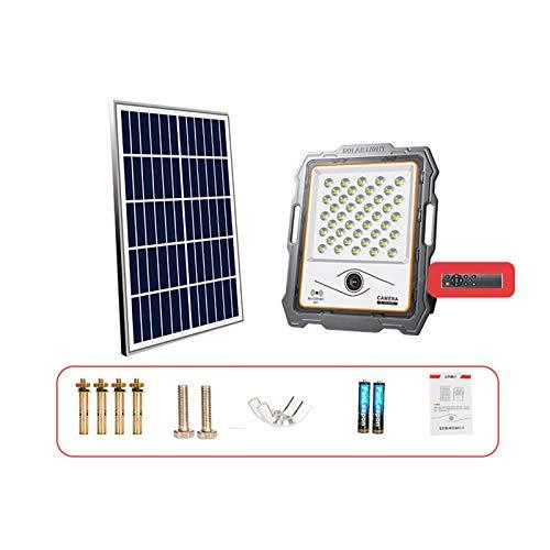 WKZ Foco Solar Exterior, Luces De Seguridad Solar con Monitoreo, Impermeable IP66, Señal Fuerte De Radar Automático De Radar, Foco Solar Exterior Potente(Size:300W)