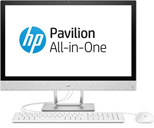 HP Pavilion 24-r052ng 60,45 cm (23,8 Zoll Full HD-IPS) All-in-One Desktop PC (Intel Core i3-7100T, 8GB RAM, 1TB HDD, Windows 10 Home 64) weiß