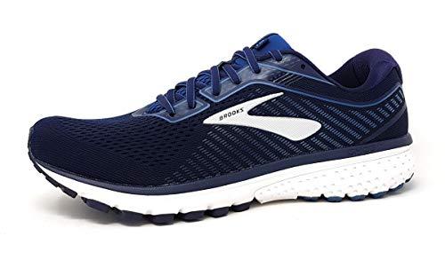 Brooks Ghost 12, Men's Running Shoes, Navy/Stellar/White - 9.5 UK