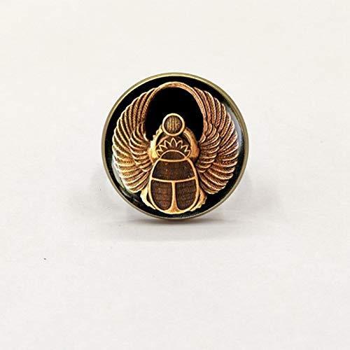 2019 Symbol der Stärke Ägyptischer Skarabäus Glaskuppel Ring Antikes Auge des Horus Ägypten Ring Schmuck Mode Charm Frauen Geschenk