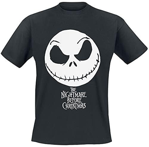 The Nightmare Before Christmas Pesadilla Antes De Navidad Jack Skellington Hombre Camiseta Negro M, 100% algodón, Regular