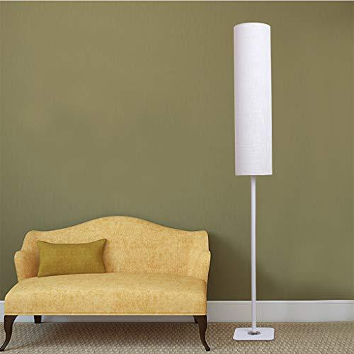 Witte Vloerlamp LED Kolom Vloerlamp voor Woonkamer Slaapkamer Lezen Nordic Minimalistische Staande Vloerlamp, 135cm 01-18