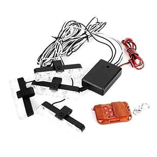 Universal Car 4 Flash Light Control remoto inalámbrico 12V 24LED Bar Lámpara estroboscópica súper brillante