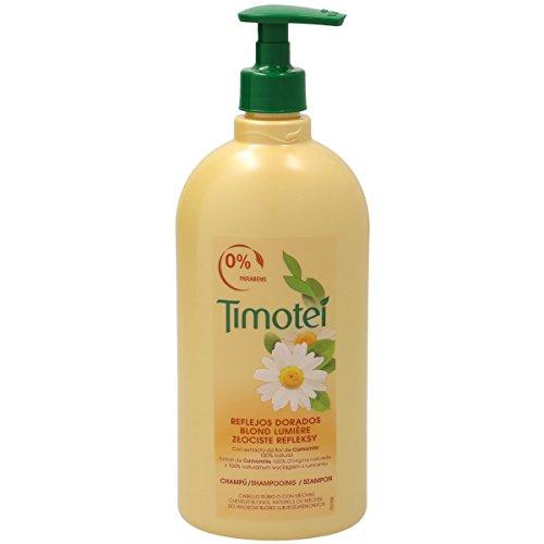 TIMOTEI champú reflejos dorados cabello rubio o con mechas bote 750 ml