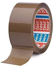 Plakband bruin - 50 mm breed - 66 m lang - 6 stuks/pakket