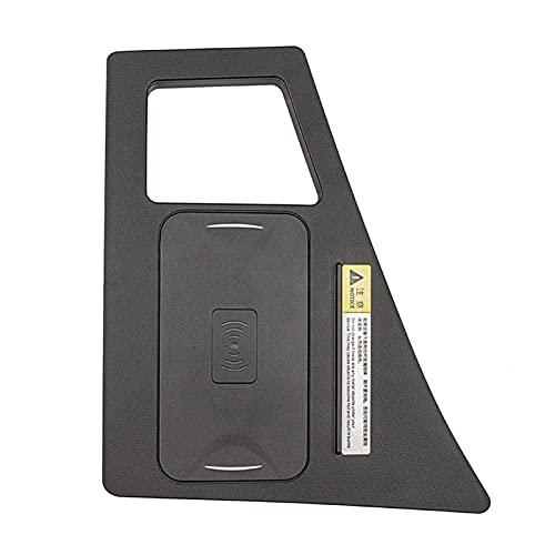 Huajin 15W COCE QI Wireless Fast Carging Placa de Carga Soporte de Carga Fit para Audi Q7 2016 2017 2018 2019 para iPhone 8 11 (Color Name : Black)