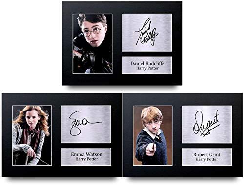 HWC Trading Harry Potter die Besetzung Geschenk, signiert, A4, gedrucktes Autogramm, Geschenke, Druck, Bild, Display (A4, (ungerahmt) alle 3)