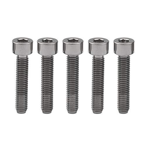 Yaruijia Tornillos cilíndricos de aleación de titanio M5 x 25 mm Ti...