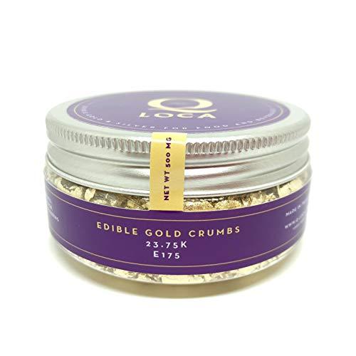 Q-loca 23.75K EDIBLE Gold Powder CRUMBS 500 mg