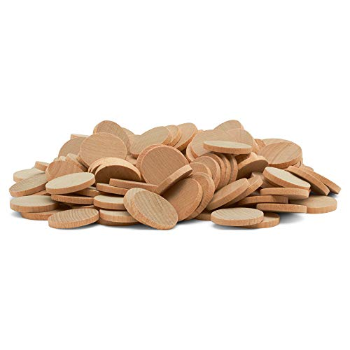 100 Wooden Circles Nickels 1 Inch by Woodpeckers