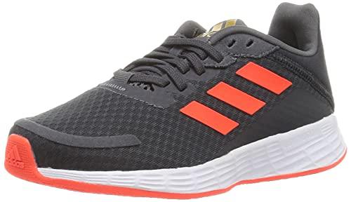 adidas Duramo SL, Road Running Shoe, Grey/Solar Red/Carbon, 27 EU