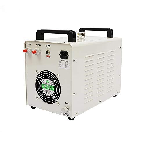 Industrieller Wasserkühler - Wasser Kühler 9L CW3000 Thermolyse Typ,Wasserkühlung Water Chiller CO2 Laser Rohrkühler für CNC Gravieren