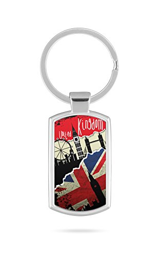 Schlüsselanhänger mit Gravur Wunschtext Name England UK WM Fahne