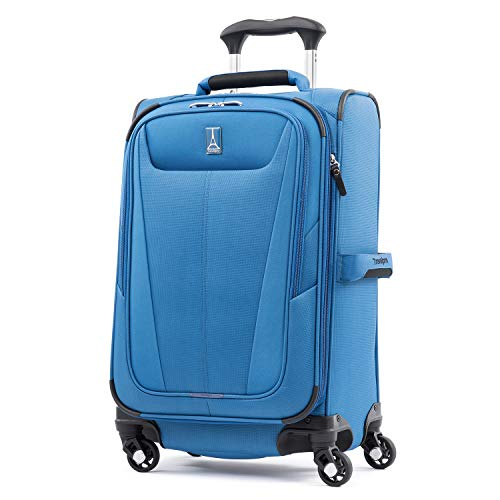 Travelpro Maxlite 5 Softside Expandable Spinner Wheel Luggage, Azure Blue, Carry-On 21-Inch