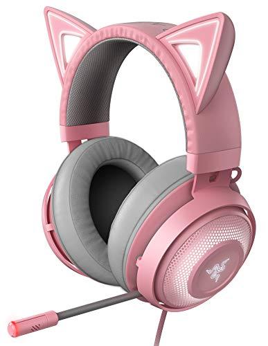 Kraken Kitty Quartz Pink ゲーミングヘッドセット USB THX7.1 ネコミミ