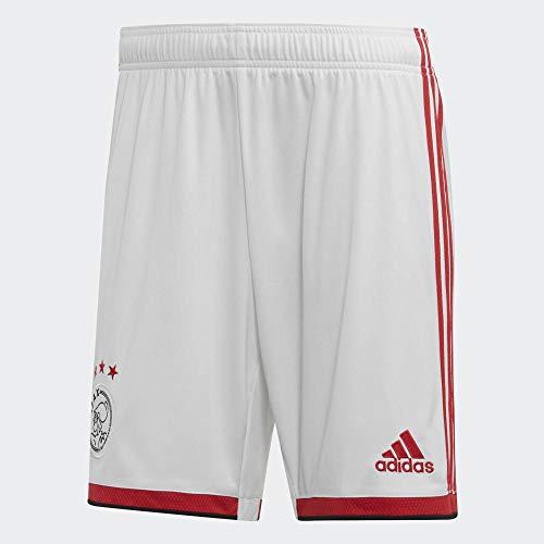 adidas AJAX H SHO Pantalón Corto, Hombre, Blanco/Rojfue/Negro, XS
