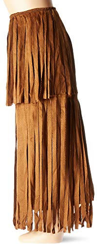 Brown Fringe Leg Warmers Halloween Costume Accessories for Adults, One Size, by Amscan