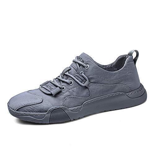 WL Hombres Zapatos Casual Ligero Zapatos De Seguridad Zapatos De Trabajo De Acero del Dedo del Pie Transpirable Zapatillas De Deporte De Protección,Gris,43