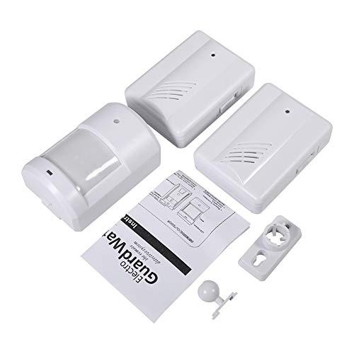 Timbre Inalámbrico, Alarma de Sensor con Transmisor Y Receptor, de Plástico para Usar en el Hogar(2 récepteurs + 1 émetteur)