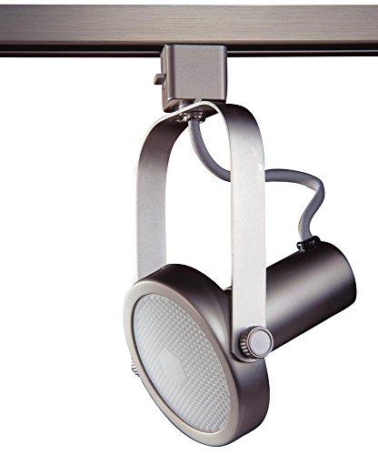 Kendal Lighting TL1602-BST   Designers Choice Gimbal Ring 1 Light 120V Track Head, Brushed Steel Finish
