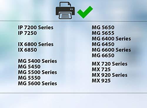 Supply Guy 20 Druckerpatronen mit Chip kompatibel mit Canon PGI-550 CLI-551 für Canon Pixma IP-7250 IX-6850 MG-5450 MG-5550 MG-5650 MG-5655 MG-6450 MG-6650 MX-725 MX-925