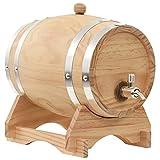 LONGMHKO Barril de Vino con Grifo Madera de Pino Maciza 6 L Dimensiones: 27 x 18 x 25 cm