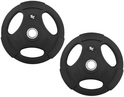 Bad Company Gummi-Gripper 50,0Kg (2x25,0) Hantelscheiben Hantel Gewichte Hanteln 30/31mm