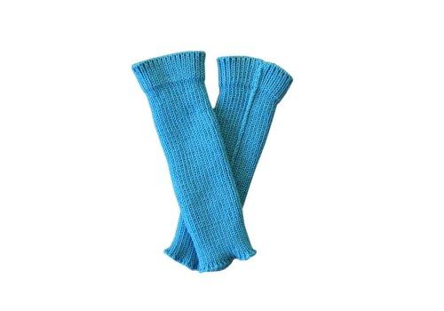 tevirP 100% Merino Wolle Baby Stulpen Beinwärmer Socken Gestrickt Tragriemen S Aqua blue