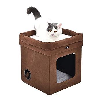 AmazonBasics Niche pliable pour chat, Marron