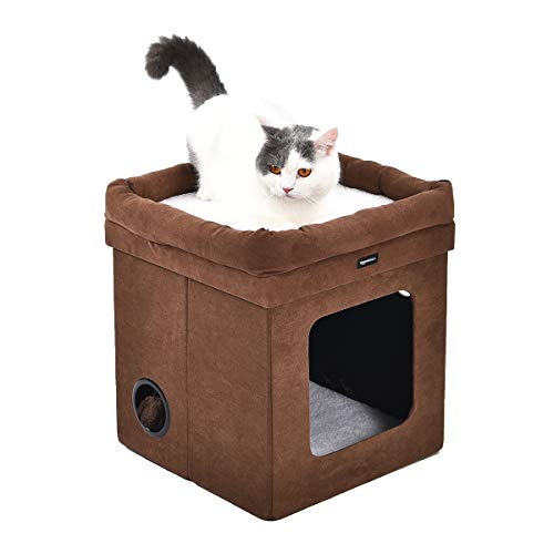 AmazonBasics Niche pliable pour chat, Marron
