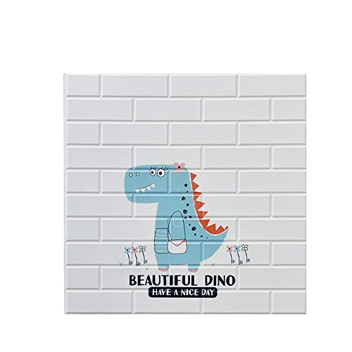 LRZS Foam brick wall panels Cartoons Interesting Wallpaper For Kids Room Decor Bedroom 10PACK 3D Brick Wallpaper PE Foam Waterproof Wall Stickers Brick Self-Adhesive (Color : 14013, Size : 10pcs)