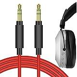 Geekria QuickFit Cable de Audio de Repuesto para Auriculares Audio Technica ATH-MSR7 ATH-SR5 ATH-AR3BT ATH-WS990BT ATH-WS660BT, Pioneer SE-MS7BT Hdj-700 HDJ-X5BT (Rojo, 1.7M)