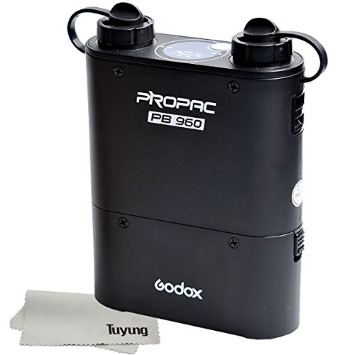 Godox Propac PB960 Flash Power Battery Pack - External 4500mAh for Canon 580EX II, 580EX, 550EX, Nikon SB-900 SB-800 SB-80DX, SONY HVL-F58AM HVL-F43AM, Metz Flash, Godox Wistro - Black