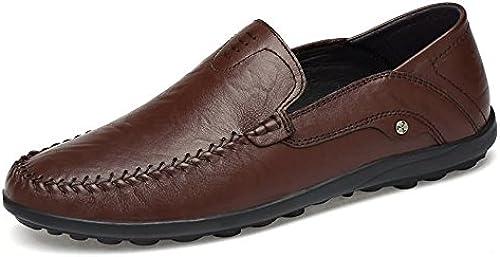 Ruanyi Herren Loafer Schuhe, Mokassins Leder Driving Style Loafer für Herren (Farbe   Dunkelbraun, Größe   45 EU)