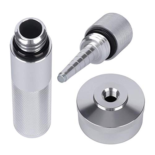 DXGTOZA Aluminum Extended Run Gas Cap Adapter, Mess Free Oil Changes Funnel, Magnetic Tip Dipstick Oil Dip Stick Fit for Honda Generator EU2000i EU1000i EU3000i (Silver)