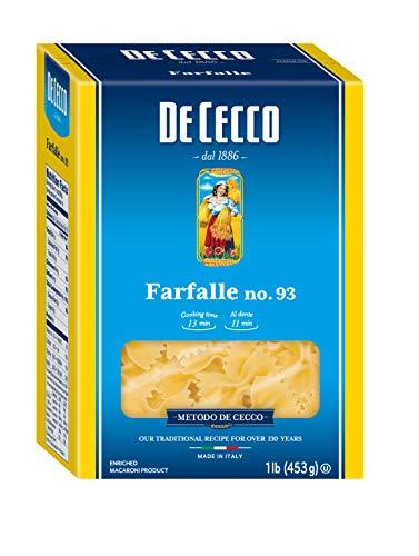 De Cecco Pasta, Farfalle, 16 oz