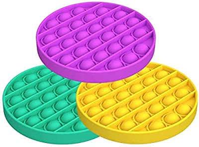 Bubble Sensory Fidget Toy,Autism Special Needs Stress Reliever Silicone Stress Reliever Toy,Squeeze Sensory Toy(Purple+Green+Yellow) from VANREYIN