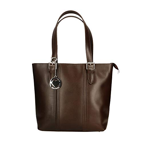Chicca Borse Bag Borsa a Spalla in Pelle Made in Italy 34x30x11 cm